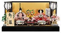 限定品 雛人形 千匠 ひな人形 雛 平飾り 親王飾り 京都西陣織 正絹 能衣優雅錦紋 京三五親王 安芸の金箔 h023-set-ssmi-k35k2-03
