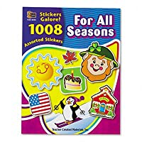 New-Teacher Created Resources 4224 - Sticker Book, For All Seasons, 1008/Pack - TCR4224
