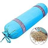 Yoga Pillow, Professional Aids Cylindrical Buckwheat Lavender Pregnant Woman Pillow Yoga Shoulder Pillow,Blue,buckwheatshell