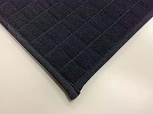 スミノエ 丸洗いできる ラグ デニムキルト 130×185cm ブルー 11744162