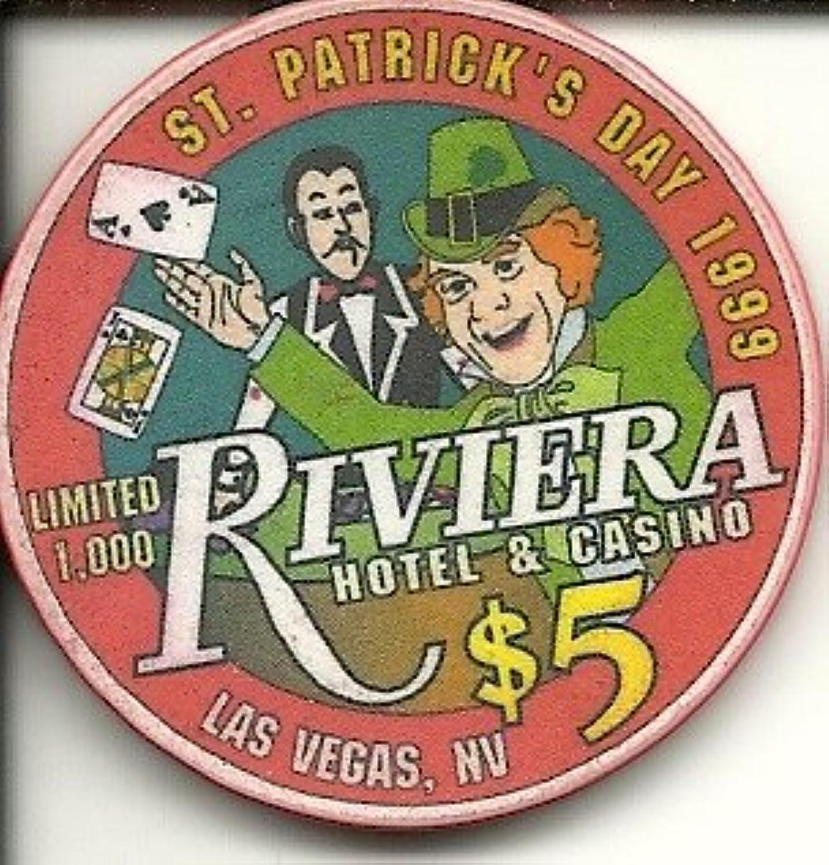 $ 5 Riviera聖パトリックの日1999ラスベガスカジノチップ