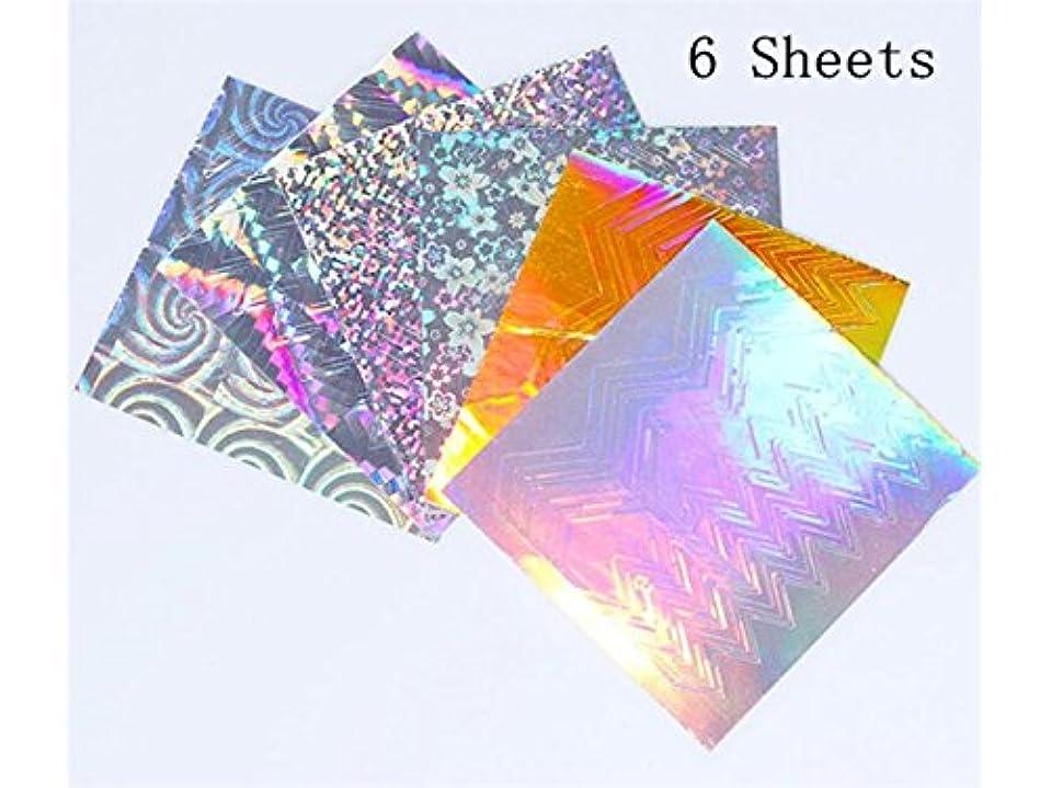 タックル特派員原始的なOsize 11個/セットのネイルステッカーフルカバーネイルアートのヒントペーパーPre Design Pressネイルステッカー(カラフル)