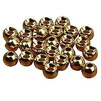 Sharplace  スロット フライ タイイング ビーズ ニンフ ヘッド ボール ビーズ 約50枚 全2色4サイズ - 金色, 3.3mm