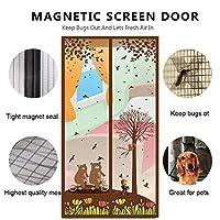 3D 防蚊 玄関網戸, 磁気 Velcro 二重扉 メッシュ カーテン フレーム シール ペットに優しい リビング ルームの壁-B 85x195cm(33x77inch)