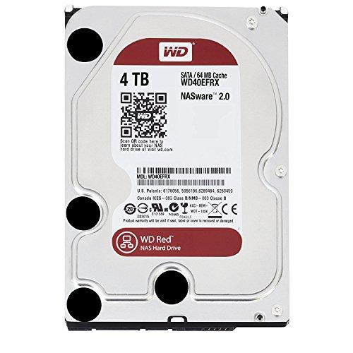 『WD HDD 内蔵ハードディスク 3.5インチ 4TB WD Red NAS用 WD40EFRX-RT2 5400rpm 3年保証』の1枚目の画像