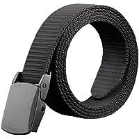 Phoenix Wonder Black Stylish Mens Boys Canvas Waist Belt Bales Catch Casual Knitting Belts