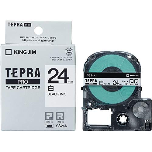 KING JIM Proテープカートリッジ 白ラベル 24mm SS24K