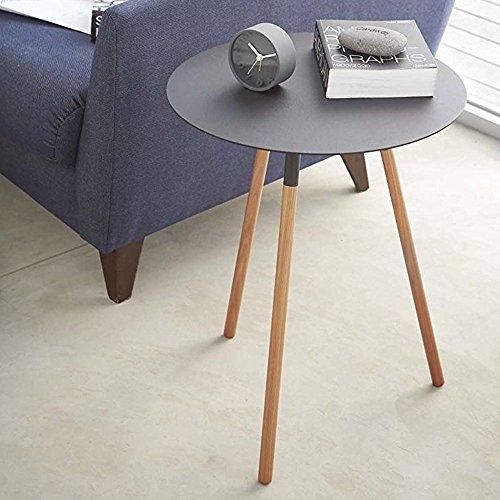 サイドテーブル 木製 おしゃれ テーブル 幅30 丸 丸型 円形 ラウンド (ブラック)