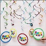 吊り下げ飾り ハッピバースデーボーイ 【誕生日 パーティー ディスプレイ 装飾】  10143