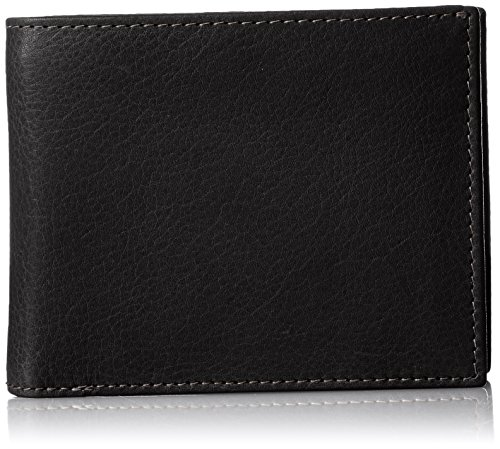 [アルベルト.ジェイ.フェンスター] 財布 二つ折り 本牛革製 パスケース・カードポケット・小銭入れ付き ファスナータイプ AJ-AA003NT BK ブラック