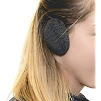 Sprigs Earbags Bandless Ear Warmers/Fleece Earmuffs with Thinsulate - Gray Medium