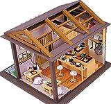 福美康(FUMEIKANG) ミニチュア ドールハウス すし 寿司屋 組み立てキット 工作キット付き