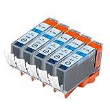【Ecolink】Canon キヤノン BCI-326C シアン 単品5個セット ICチップ付き BCI-326+325/6MP & BCI-326+325/5MP 対応 互換インクカートリッジ
