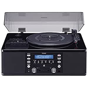 ティアック ターンテーブル/カセットプレーヤー付CDレコーダー (ピアノブラック) LP-R550USB-P/PB