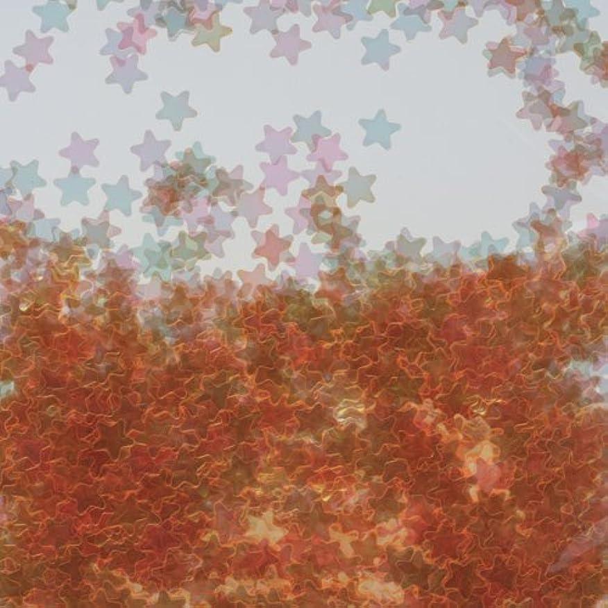 帳面すばらしいです貨物ピカエース ネイル用パウダー 星オーロラ 耐溶剤 #762 オレンジ 0.5g