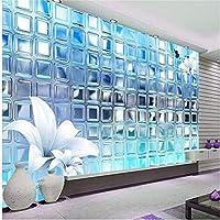 Wuyyii 3D壁紙壁画アートの装飾画像背景モダンホテルレストランシルバーモザイク正方形絵画壁画パネル-250X175Cm