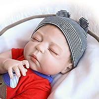 Sannysis クリエイティブトイ スクイーズ玩具 リボーンドール 幼児 ベビードール 人工 男の子 22インチ ビニール シリコーン 生きているようなおもちゃ