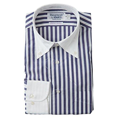 SCHIATTI(スキャッティ)Blangrayish  ボタンダウン ドレスシャツ WH/NV col28 (LL)