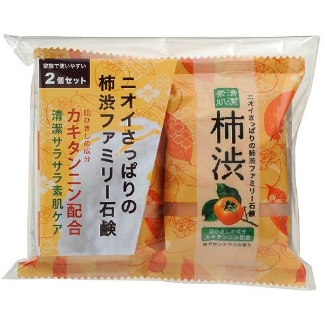 フィードオンストラトフォードオンエイボン種類ペリカン石鹸 ファミリー柿渋石けん2コパック