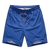 (オチェーンタ)OCHENTA メンズ 速乾軽量 ジムウェア スポーツ ランニング フィットネス ポケット 短パン ショートパンツ アウトドア ショーツ ブルー M