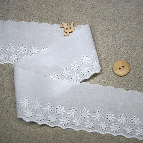 14ヤード刺繍コットンアイレットレーストリム5cm YH1062