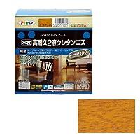 (まとめ買い) アサヒペン 水性高耐久2液ウレタンニス ライトオーク 600gセット 【×3】