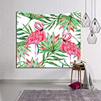タペストリーフラミンゴ植物3Dビジュアル壁掛けタペストリーリビングルームの寝室の装飾 XLSM (Color : C, Size : 203x153)