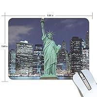 マウスパッド 自由の女神像ニューヨーク市 ゲーミングマウスパッド 滑り止め 19 X 25 厚い 耐久性に優れ おしゃれ