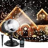 プロジェクターライト 投影ランプ LEDイルミネーションライト ステージライト クリスマス飾りライト RGB多色変化 LED投光器 舞台照明 エフェクトライト スポットライト ロマンチック パーティー 雪花 雰囲気作り UL認定 リモコン付き kingwill