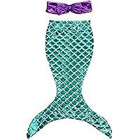 Little Girls 2pcs Swimmable Mermaid Tail Princess Bikini Swim Bathing Suit