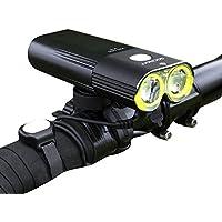 Gaciron(ガシロン) 自転車ライト 明るいライト 1600ルーメン USB充電式 モバイルバッテリー機能 ブラケット付き 6発光モード IPX6防水 リモコン付 LED CREE XML2