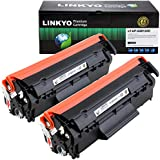 LINKYO Compatible Toner Cartridge Replacement for HP 12A Q2612A (Black 2-Pack)