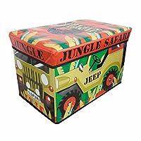 キッズ・子供用 ジープ 折りたたみ 収納ボックス ケース 男の子 (ワンサイズ) (ジープ)