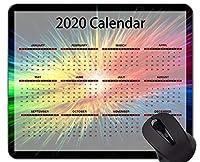 2020カレンダーゴールデンプレミアムゲーミングマウスパッドカスタム、カラフルでカラフルなオフィスマウスパッド