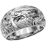 プラチナ Pt900 指輪 大きいサイズ 鍛造(たんぞう)月甲(つきこう)龍神彫リング巾35g プラチナリング 彫金マリッジ 結婚 記念日 プレゼント オリジナル(31号)