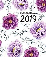 Weekly Meal Planner 2019: A Year - 365 Daily - 52 Week 2019 Calendar Meal Planner Daily Weekly and Monthly For Track & Plan Your Meals Food Planner Jan 2019 - Dec 2019 | Purple Floral Watercolor Design