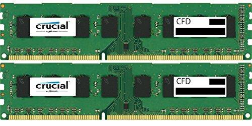 CFD販売 デスクトップPC用メモリ PC3L-12800(DDR3L-1600) 4GBx2枚 1.35V/1.5V両対応 無期限保証(Crucial by Micron) W3U1600CM-4G
