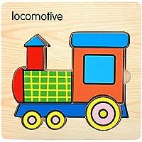 Fineser ( TM )動物ミニ3dパズルキッズ教育面白いおもちゃ木製カラフルJigsawギフト 14.5cmX14.5cm Fineser