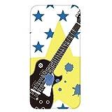 ホワイトナッツ iPhone5c ケース クリア ハード プリント パターンE(cw-645) スリム 薄型 ミュージシャン ギター 音楽 WN-PR459033