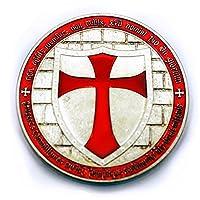 銀貨 1オンス テンプル騎士団 十字架 フリーメーソン ケース付き