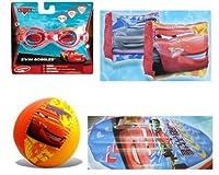 Cars Summer Fun Pool Set–ゴーグル、ビーチボール、Swim Raft、Arm Floats