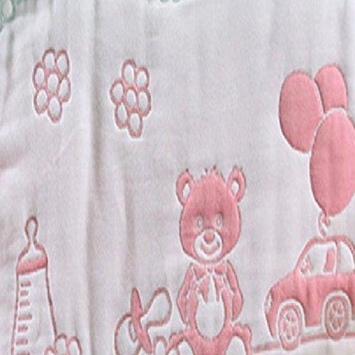 バンビノ ベビー 8重 ガーゼ スリーパー オーガニックコットン 赤ちゃん 寝冷え防止 6重より柔らか 出産祝い (新生児~3歳頃向け) (動物園)