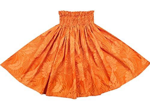 [해외]오더 메이드로 만들어드립니다 (75cm4 개 고무 잠금 마감) 훌라 스커트 오렌지 빠 우스 카토 몬스 테라 무늬 (1935) 2022OR 빠 우스 카토 쇼핑 사양/Made to order by order made (75 cm 4 books rubber~ rock finish) Skirt for hula dance Orange`...