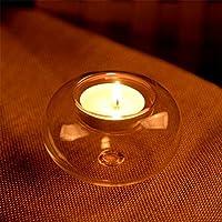 FUGL ガラス製キャンドル置き\丸型ティーライト\燭台\結婚式用コーヒーオフィステーブル装飾的なセンターピース, Profect Anniversary Celebration Gift