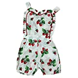 Cutelove 子供ドレス キャミワンピース 女の子 夏 ノースリーブ 欧米風 イチゴ柄 心柄 超可愛い
