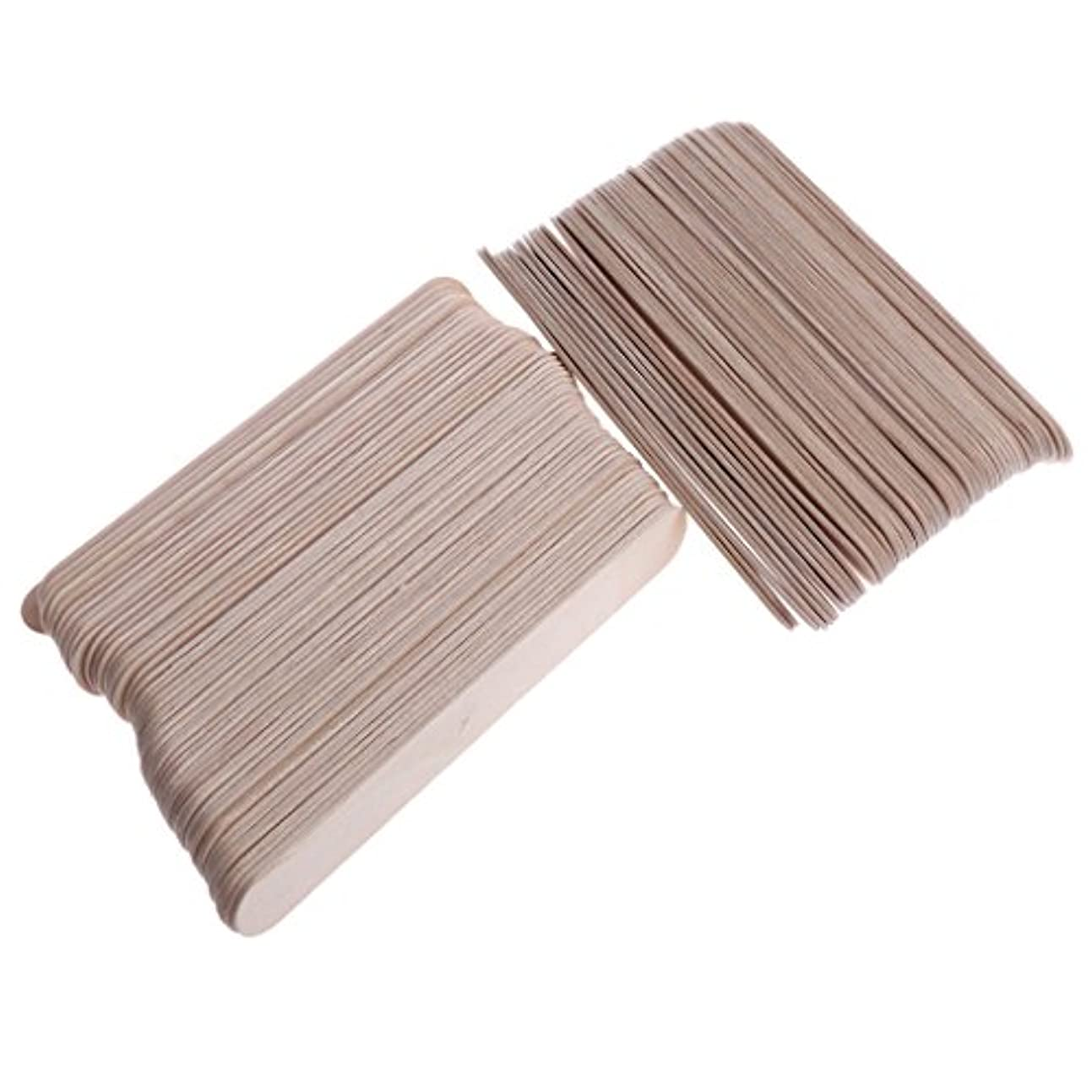分岐するワードローブ棚約100枚 木製スティック スパチュラ 舌圧子 使い捨て 便利 プロのサロン