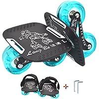 「LangBo正規品」4代目 ドリフトスケート 専用工具とベルト付き フリーラインスケート 分体式 スケートボード ミニ スケボー インラインスケート ローラースケート のようなトリックも可能 アルミ合金板 滑り止め 初心者向け ウィール青色発光と非発光2種類があり