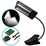 Music Stand Light LOVIN PRODUCT 10 LED Adjustable Flexible Gooseneck Portable Desk Table Click On Led Reading Lamp Light with 2 Brightness Settings for Home Office Craft Work at Night. (1 PACK) [並行輸入品]