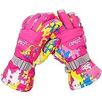 EUBUY防水防風スキー手袋通気性冬熱暖かい雪スキースノーボードスノーモービルグローブメンズレディースピンクS