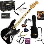 Squier エレキベース 初心者 入門 指板のブロックインレイが特徴的なジャズベース 人気のVOX Pathfinder BASS10が入った本格14点セット Classic Vibe '70s Jazz Bass/BLK(ブラック)